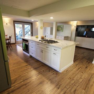 Basement White Kitchen Remodel ~ Medina, OH