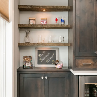 Basement Wood Bar Shelves