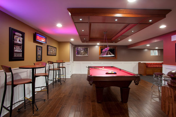 Contemporary Basement by Worthy Builders,Inc
