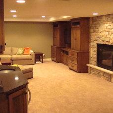 Eclectic Basement by Arbuckle Design Builders, LLC