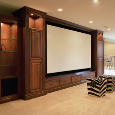 Traditional Basement by Cowdin Design + Build