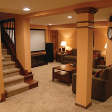 Traditional Basement by Dover Home Remodelers