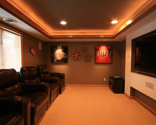 Small man cave ideas pictures remodel and decor for Basement theater room