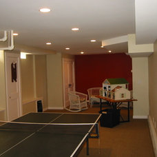 Traditional Basement by Mercer Home Solutions