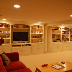 traditional basement by Signature Construction and Design