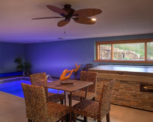Indoor basement pool houzz for Disadvantage of indoor swimming pool