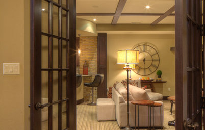 Basement of the Week: Tall-Order Design for a Lower-Level Lounge