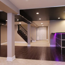 Modern Basement by Worthy Builders,Inc