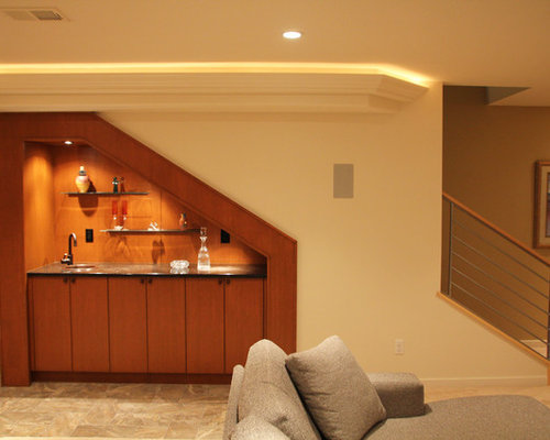 Lighting Basement Washroom Stairs: Wet Bar Under Stairs Home Design Ideas, Pictures, Remodel