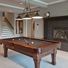 Traditional Basement by DESIGN GUILD HOMES