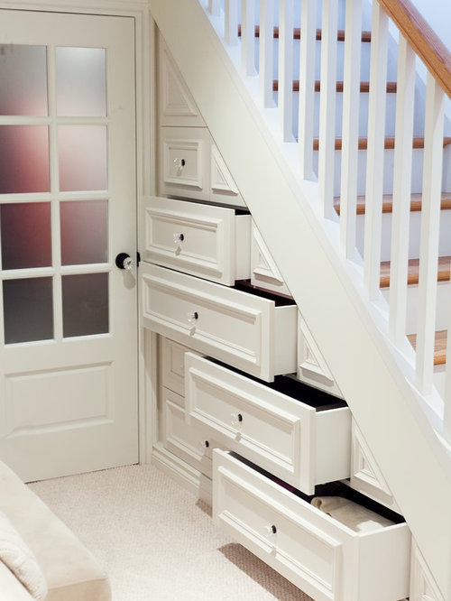 Lighting Basement Washroom Stairs: Drawers Under Stairs Home Design Ideas, Pictures, Remodel