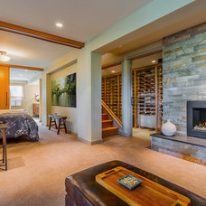 Contemporary Basement by Bristol Design and Construction LLC
