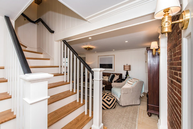 Transitional Basement By Finecraft Contractors Inc