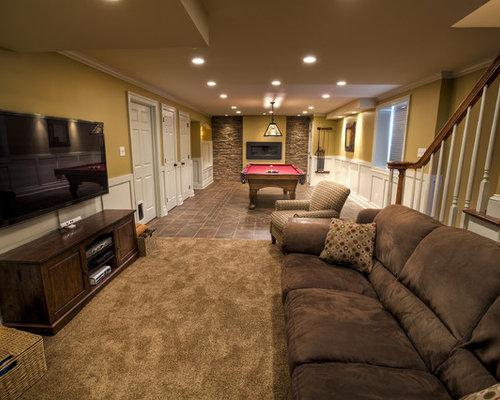 Narrow basement houzz - 7 great basement design ideas ...