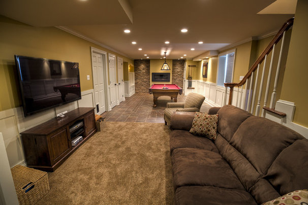 Traditional Basement by West Chester Design / Build, LLC
