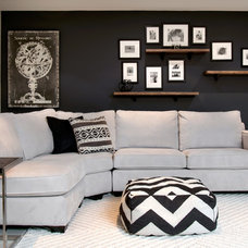 Contemporary Basement by Stephani Buchman Photography