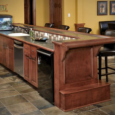 Traditional Basement by Wende Woodworking LLC