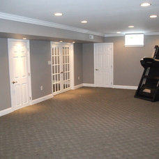Traditional Basement by Livin' A Dream Renovations