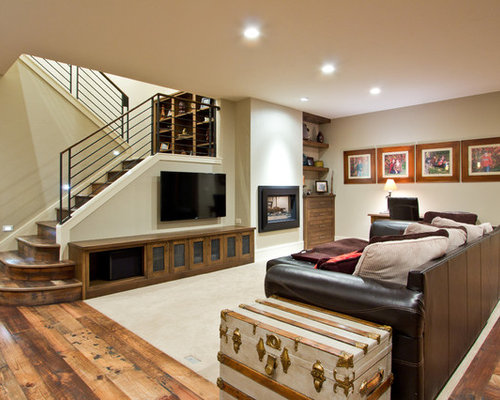 Best Craftsman Basement Design Ideas & Remodel Pictures | Houzz