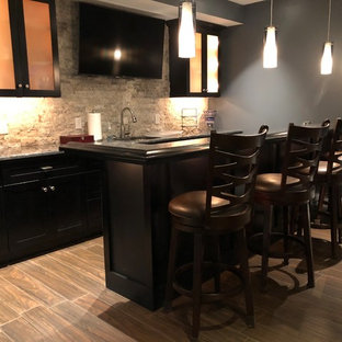 Blue Bell Finished Basement, Bar,, and Powder Room