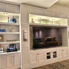 Transitional Basement by Melyssa Robert Designer