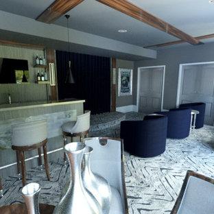 Blue Luxury Media Room