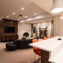 midcentury modern basement