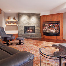 Contemporary Basement by College City Design Build