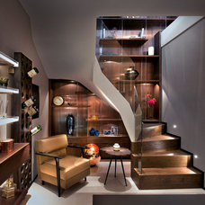 Contemporary Basement by Zephyr Interiors