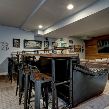 Bowyer Lane Bar Tops and Media Cabinet