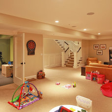 Traditional Basement by Finecraft Contractors, Inc.