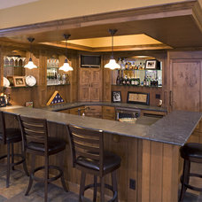 Traditional Basement by Knight Construction Design | Chanhassen, Minnesota