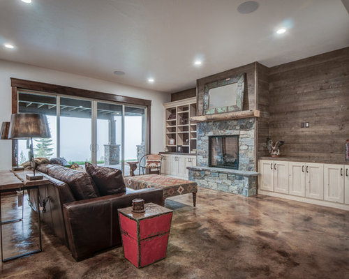 Rustic basement design ideas renovations photos with for Rustic basement