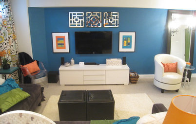 Basement of the Week: Kicky Colors and Patterns Promise Fun