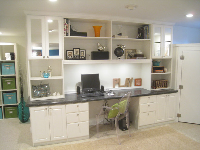 Contemporary Basement by Your Favorite Room By Cathy Zaeske