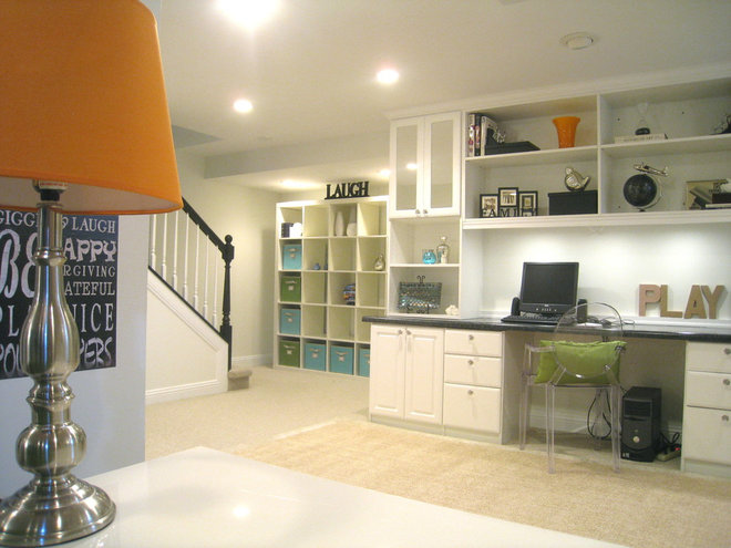 Transitional Basement by Your Favorite Room By Cathy Zaeske