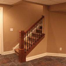 Traditional Basement by Dream Builders