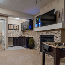 Contemporary Basement by Brookfield Residential Alberta