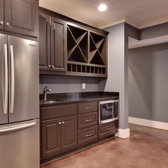 traditional basement by Blake Shaw Homes, Inc