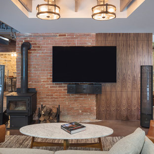 75 Most Popular Basement With A Wood Stove Design Ideas For 2019