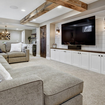 Broomfield Modern Farmhouse Basement
