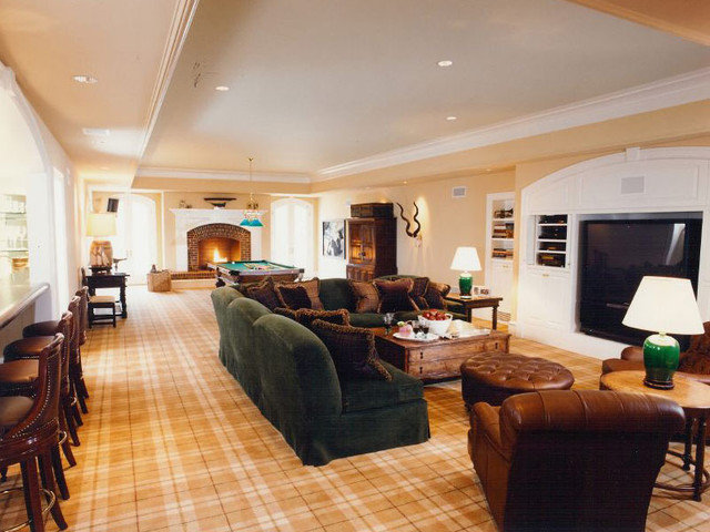 Traditional Basement by BROWN DAVIS INTERIORS, INC.