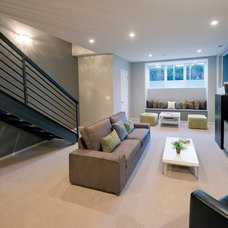 Modern Basement by The DiCosola Group