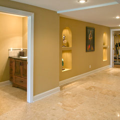 contemporary basement by Lifestyles Custom Homes & Remodeling, Inc.