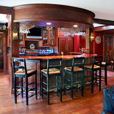 Traditional Basement by Sawhill Kitchens