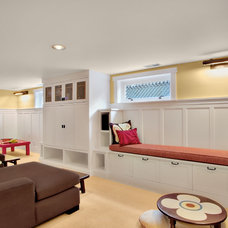 Traditional Basement by J.A.S. Design-Build