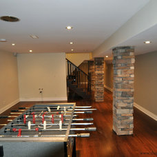 Contemporary Basement by The Gatti Group Corp.