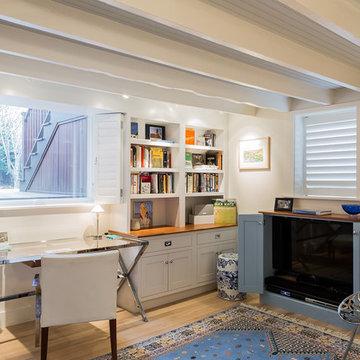 Cambridge French Living Room Basement Renovation