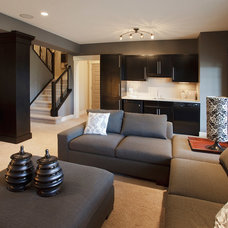 Transitional Basement by Crystal Creek Homes