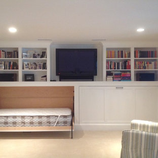 Inspiration for a transitional basement remodel in Boston